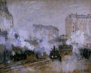 Вокзал Сен-Лазар, прибытие поезда — Клод Моне