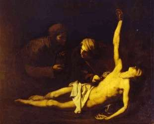 Saint Sebastian Attended by Saint Irene — Хосе де Рибера