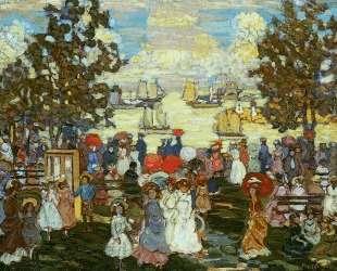 Salem Willows (also known as The Promenade, Salem Harbor) — Морис Прендергаст