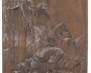 Самсон и лев — Альбрехт Альтдорфер