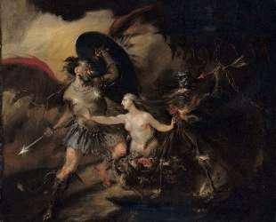 Satan, Sin and Death — Уильям Хогарт