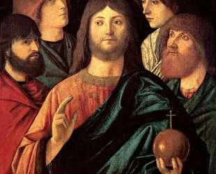 Saviour blesses the four apostles — Витторе Карпаччо