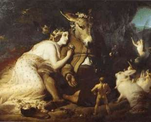 Scene From A Midsummer Night's Dream, Titania and Bottom — Эдвин Генри Ландсир