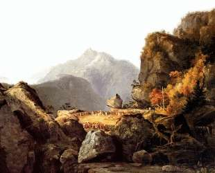 Scene from 'The Last of the Mohicans', by James Fenimore Cooper — Томас Коул