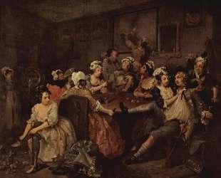 Scene in a tavern — Уильям Хогарт