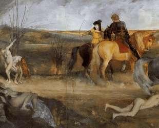 Сцена войны в Средневековье — Эдгар Дега