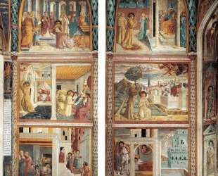 Scenes from the Life of St. Francis (north wall) — Беноццо Гоццоли