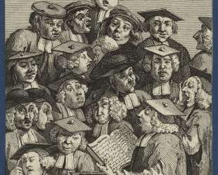 Scholars at a Lecture — Уильям Хогарт