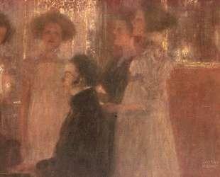 Schubert at the piano I — Густав Климт