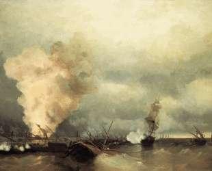 Морское сражение при Выборге — Иван Айвазовский