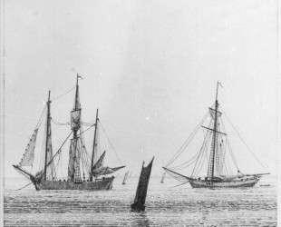 Sea with ships — Каспар Давид Фридрих