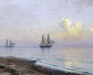 Seascape with sailboats — Лев Лагорио