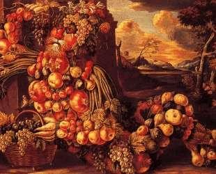 Сидящий образ лета — Джузеппе Арчимбольдо