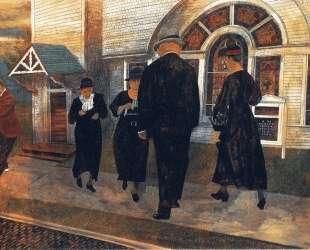Self-Portrait Among Church Goers — Бен Шан