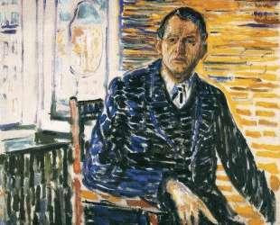 Автопортрет в больнице профессора Якобсона — Эдвард Мунк