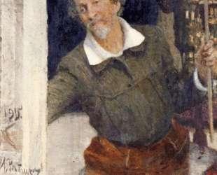 Self portrait at work — Илья Репин