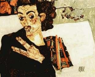 Self-Portrait with Black Vase and Spread Fingers — Эгон Шиле