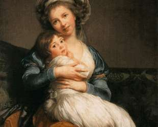 Self Portrait with Her Daughter, Julie — Элизабет Луиза Виже-Лебрен