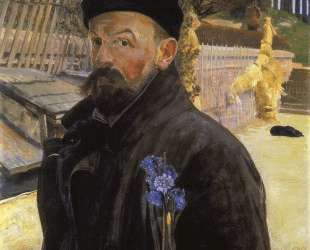 Self-portrait with hyacinth — Яцек Мальчевский