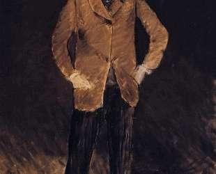 Self-portrait with skull-cap — Эдуард Мане