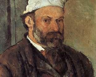 Self-portrait with white turbaned — Поль Сезанн