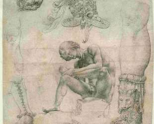 Sheet with a study after the Spinario and other sculptures — Мабюз