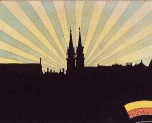 Silhouette of Klosterneuburg — Эгон Шиле