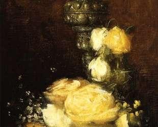 Silver Chalice with Roses — Джулиан Олден Вейр