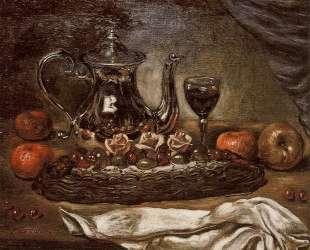Серебряный чайник и пирог на блюде — Джорджо де Кирико