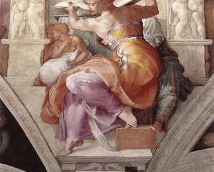 Sistine Chapel Ceiling: Libyan Sibyl — Микеланджело