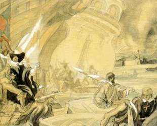 Sketch for one of the murals of the Army — Карлос Саенс де Техада