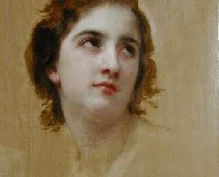 Sketch of a Young Woman — Вильям Адольф Бугро