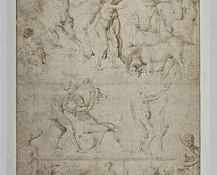 Эскиз фигур и сцен из античности — Якопо Беллини