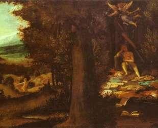 Sleeping Apollo, Muses and Fama — Лоренцо Лотто