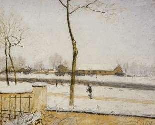 Snow Scene Moret Station — Альфред Сислей