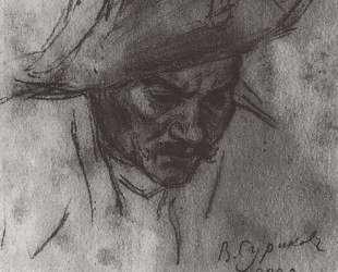 Голова солдата в треуголке — Василий Суриков