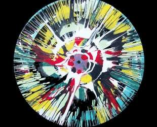 Spin Painting White Blossom — Дэмьен Хёрст