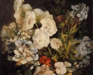 Spray of Flowers — Hollyhocks — Эжен Буден
