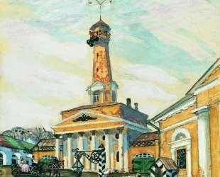 Площадь в Крутогорске — Борис Кустодиев