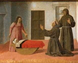 Св. Антоний воскрешает ребенка — Пьеро делла Франческа