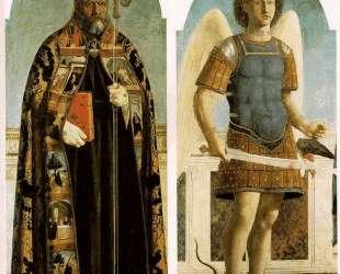 Св. Августин и Св. Михаил — Пьеро делла Франческа