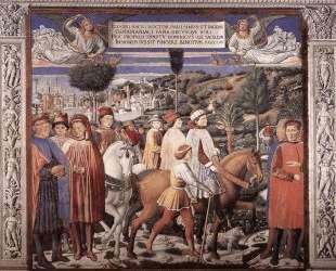 St. Augustine Departing for Milan — Беноццо Гоццоли