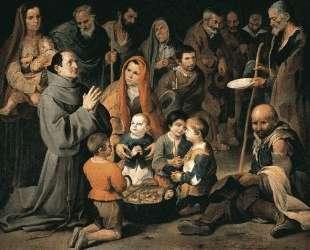 St. Diego Giving Alms — Бартоломе Эстебан Мурильо