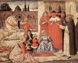 St. Dominic Reuscitates Napoleone Orsini — Беноццо Гоццоли