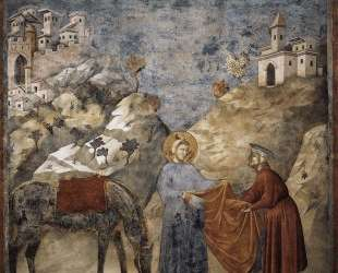 St. Francis Giving his Mantle to a Poor Man — Джотто