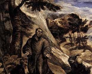 Св. Франциск получает стигматы — Эль Греко
