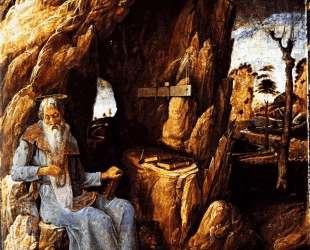 St. Jerome in the Wilderness — Андреа Мантенья
