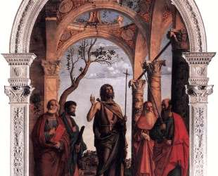 St. John the Baptist and Saints — Чима да Конельяно