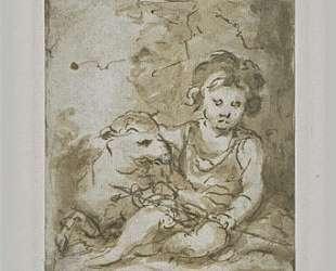 St. John the Baptist with a lamb — Бартоломе Эстебан Мурильо