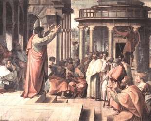 St. Paul Preaching at Athens (cartoon for the Sistine Chapel) — Рафаэль Санти
